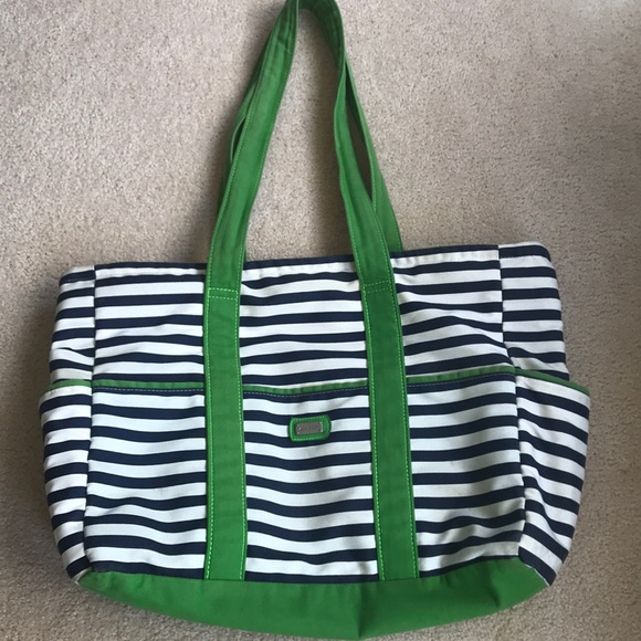a9624ebccb Ame   Lulu Handbags - AME   LULU canvas tennis tote bag - green blue